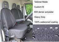 Tailored Front Pair - Driver & Double Passenger - Black