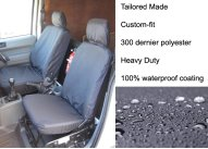 Tailored - Driver with armrest & Folding Passenger - Black