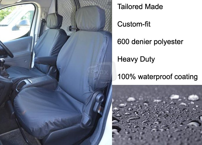 SINGLE DRIVERS//PASSENGER BLACK VAN SEAT COVER HEAVY DUTY WATERPROOF