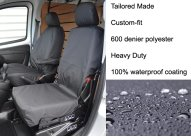 Tailored Front Pair - Driver & Non-Fold Single Passenger - Black