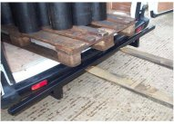 Rear Fork Lift Bumper Protection Bar