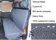 Tailored Rear 3-Seater Bench - Grey