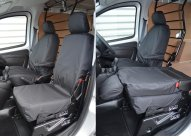Tailored Front Pair - Driver & Folding Single Passenger - Black