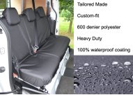 Tailored Rear Single & Double Seat - Black