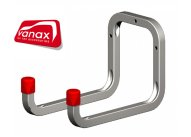 250mm Galvanised Steel Double Wall Hook - 15kg capacity