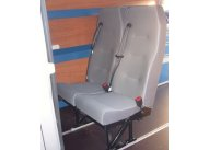 High Back Double with 3pt seat belts, M1/N1 Tested