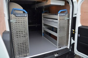 Vauxhall Combovan Sortimo Racking Interior View